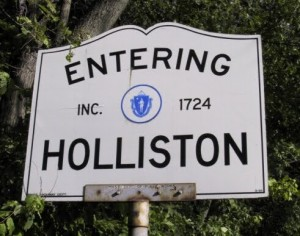 Entering Holliston Sign