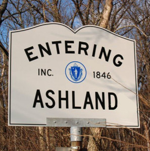 Entering Ashland Sign