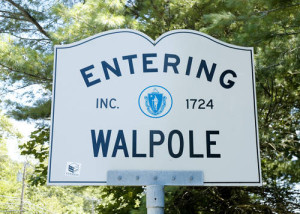 Entering Walpole Sign